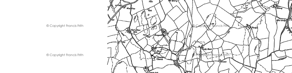 Old map of Whiteside Pike in 1897