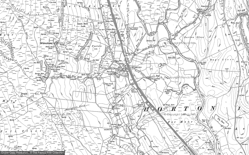 Old Map of Historic Map covering Allotment, The in 1907
