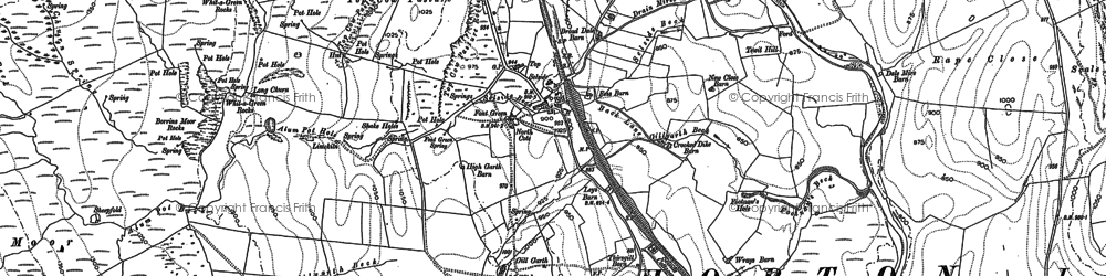 Old map of Alum Pot in 1907
