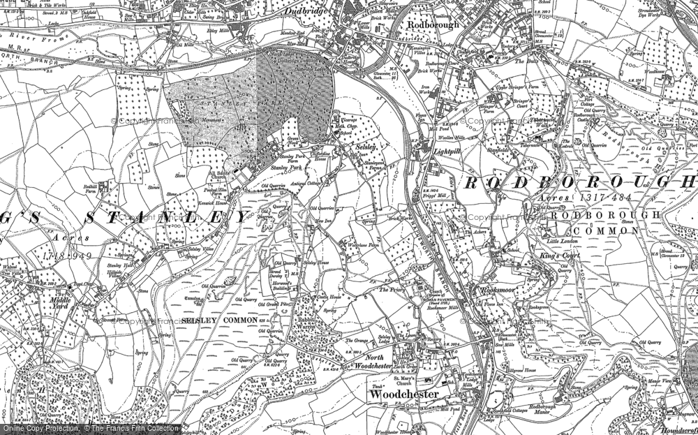 Old Map of Selsley, 1882 in 1882