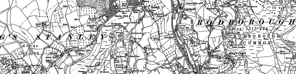 Old map of Selsley in 1882