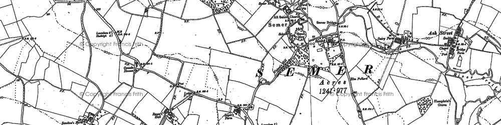 Old map of Semer in 1884