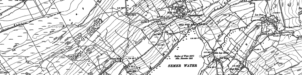 Old map of Wood End Lodge in 1892