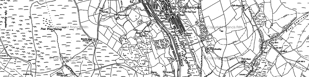 Old map of Senghenydd in 1898