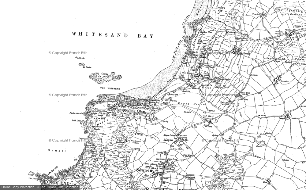 Old Map of Historic Map covering Aire Point in 1906