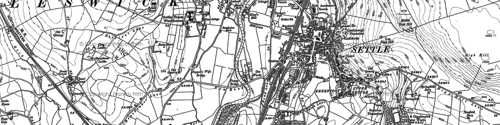 Old map of Settle in 1907