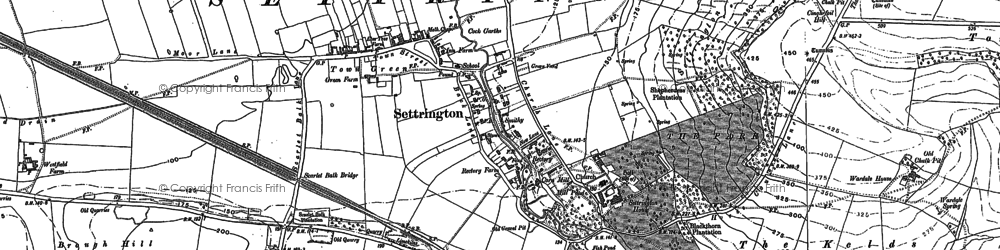 Old map of Wold Ho in 1888