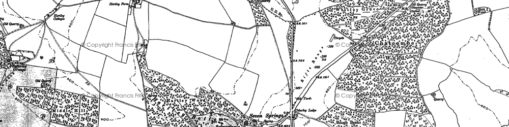 Old map of Wistley Hill in 1883