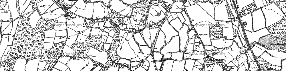Old map of Wickhurst Manor in 1895