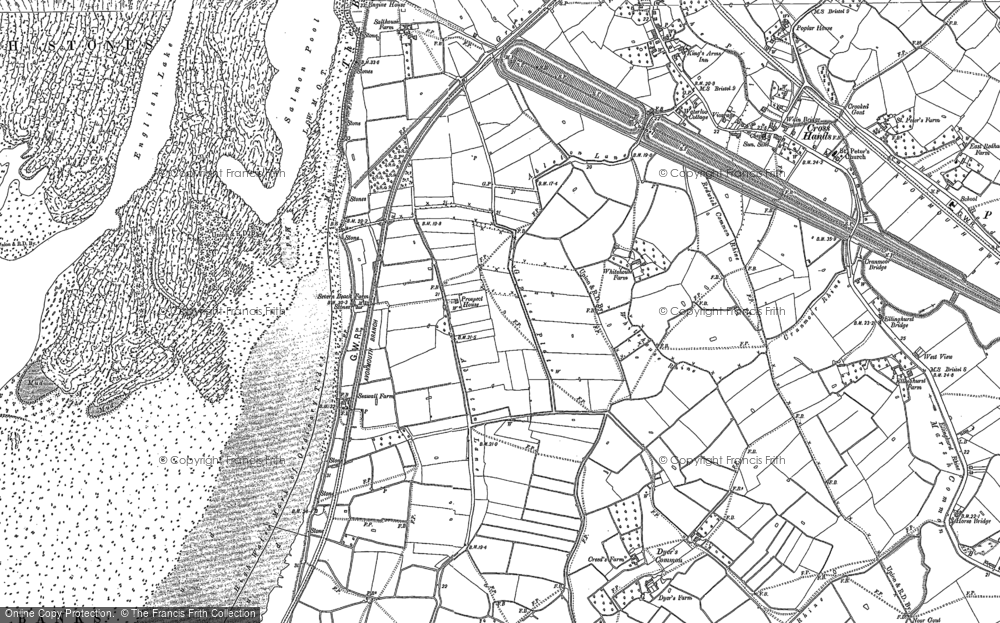 Old Map of Severn Beach, 1900 - 1901 in 1900