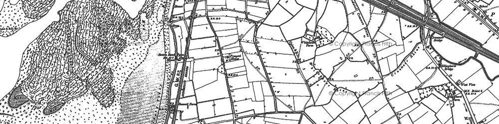 Old map of Severn Beach in 1900
