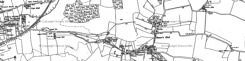 Old map of Woodstone in 1896