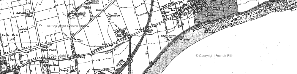 Old map of Sewerby in 1909