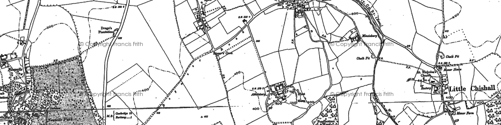 Old map of Smith's End in 1896
