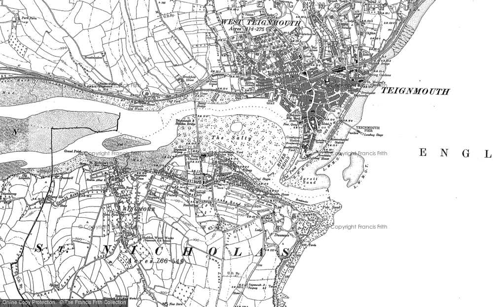 Old Map of Shaldon, 1904 in 1904