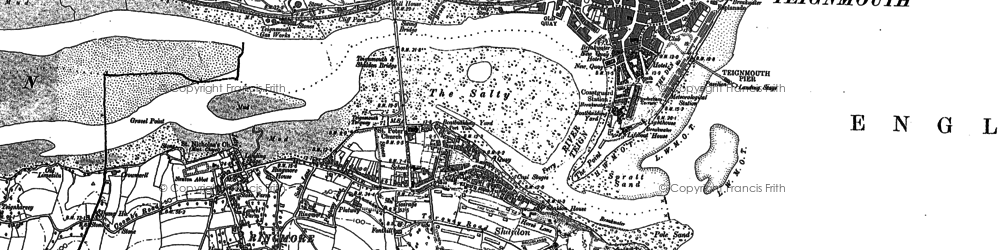 Old map of Shaldon in 1904