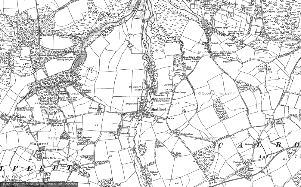 Old Map of Shalfleet, 1896 - 1907 in 1896