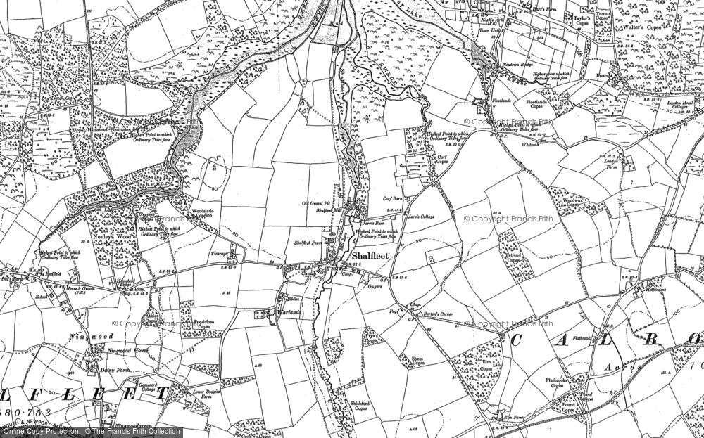 Map of Shalfleet, 1896 - 1907