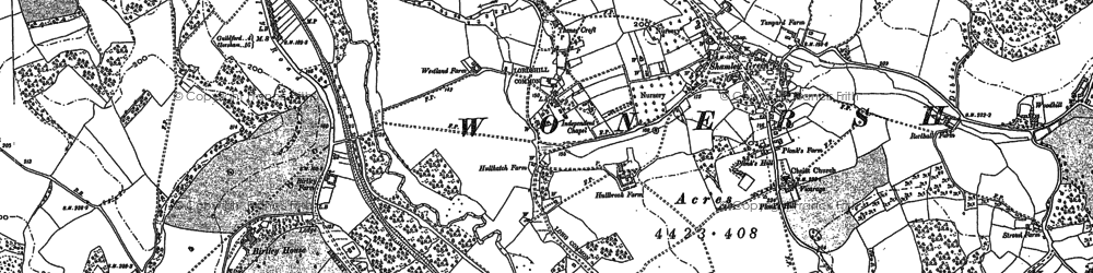 Old map of Birtley Green in 1895