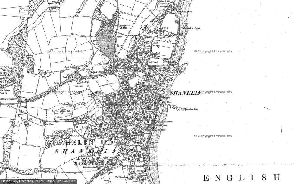 Old Map of Shanklin, 1907 in 1907