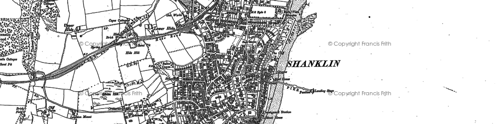 Old map of Shanklin in 1907