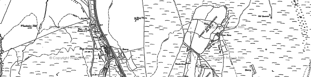 Old map of Wet Sleddale Reservoir in 1897