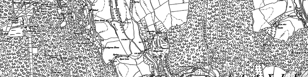 Old map of Abenhall in 1879
