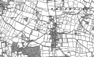 Old Map of Shapwick, 1885