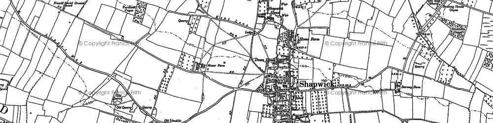 Old map of Shapwick in 1885