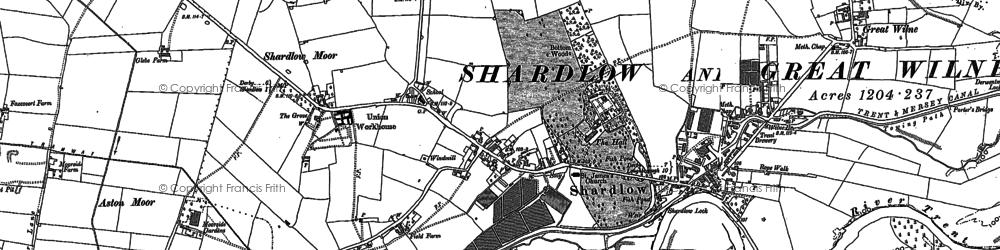Old map of Ambaston Grange in 1881