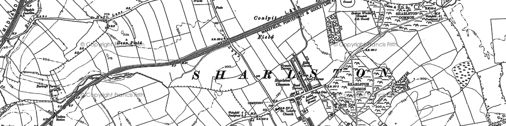 Old map of Windmill Hill in 1890