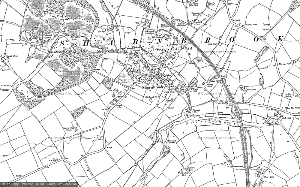 Old Map of Historic Map covering Tofte Manor in 1882