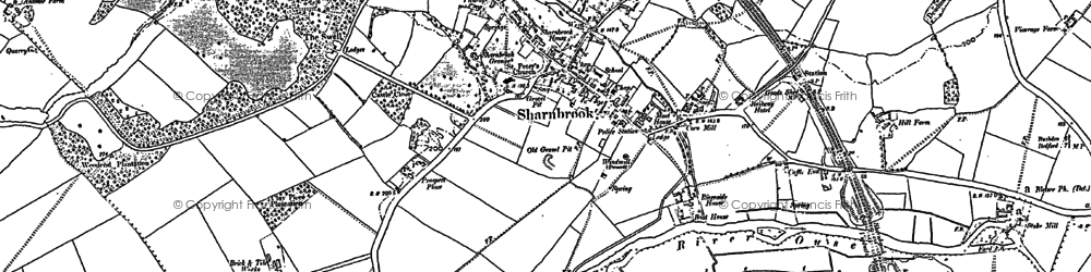Old map of Tofte Manor in 1882