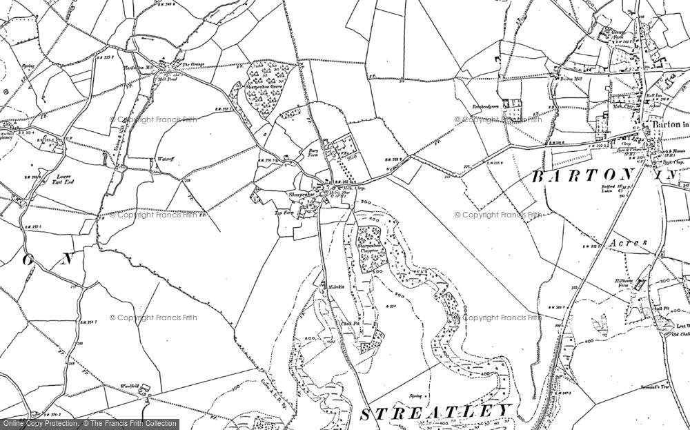 Old Map of Sharpenhoe, 1882 - 1899 in 1882