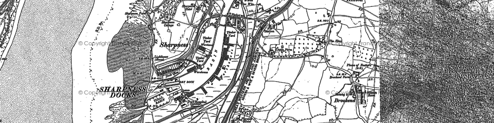Old map of Sharpness in 1879