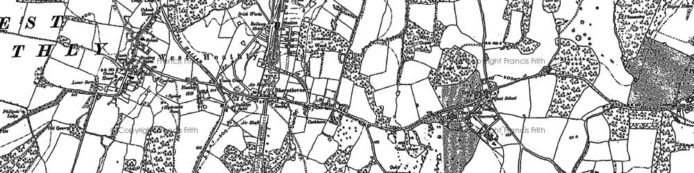 Old map of Sharpthorne in 1896