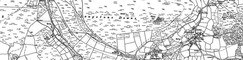 Old map of Witheybrook Marsh in 1882