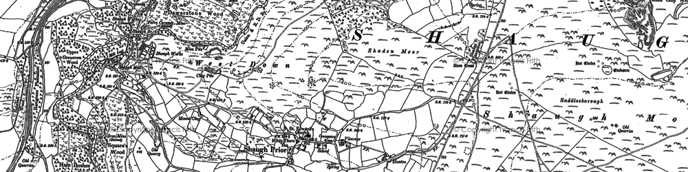 Old map of Wigford Down in 1883