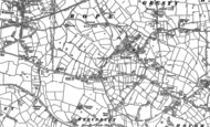 Old Map of Shavington, 1897