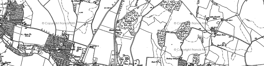 Old map of Shaw in 1898