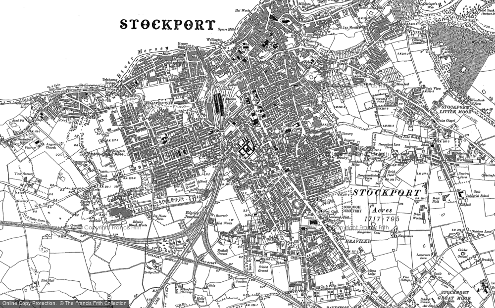 Old Map of Historic Map covering Adswood in 1897