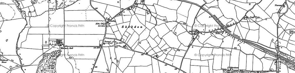 Old map of Wharf Inn in 1880