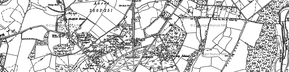 Old map of Shedfield in 1895