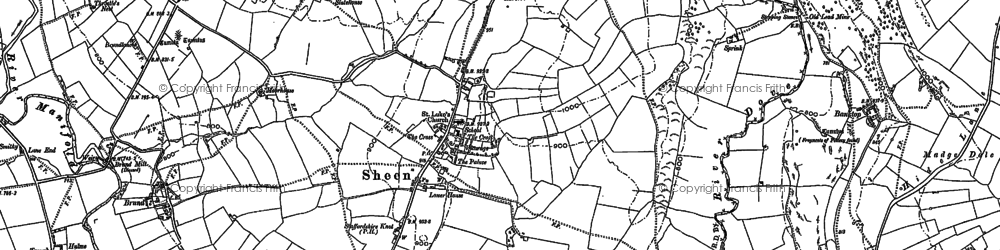 Old map of Wigginstall in 1897