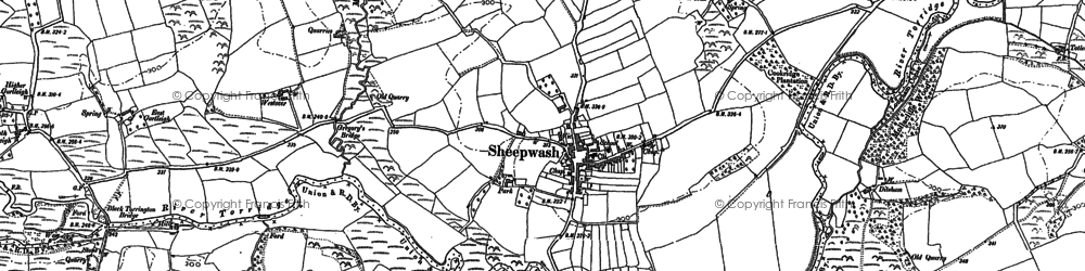 Old map of Wooda in 1884