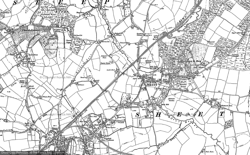 Old Map of Sheet, 1895 - 1908 in 1895