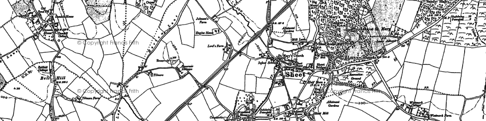 Old map of Sheet in 1895
