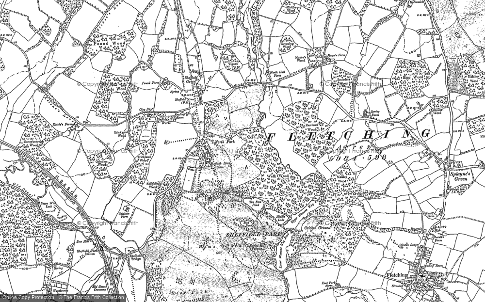 Old Maps of Sheffield Park Francis Frith