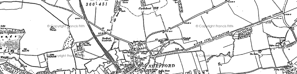 Old map of Shefford in 1882