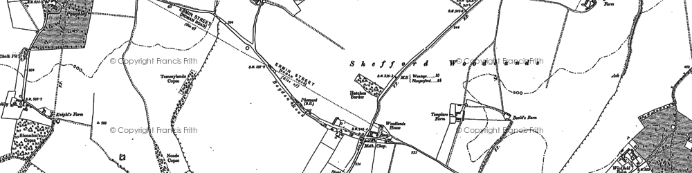 Old map of Wickfield Copse in 1898